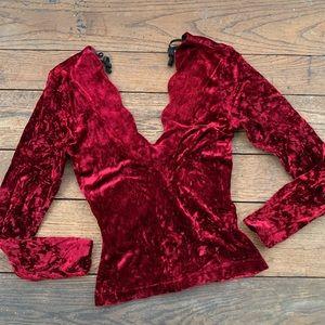 Vintage Rampage Ruby Velvet Top